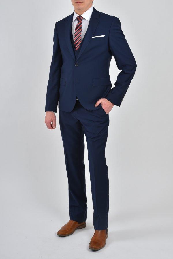 Mörkblå kostym