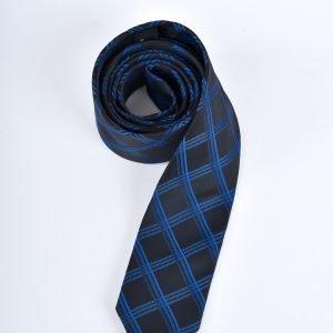 Slips - svart och blårandig