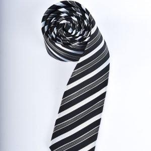 Slips - svart och vitrandig