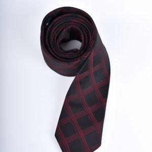 Slips - svart och rödrandig