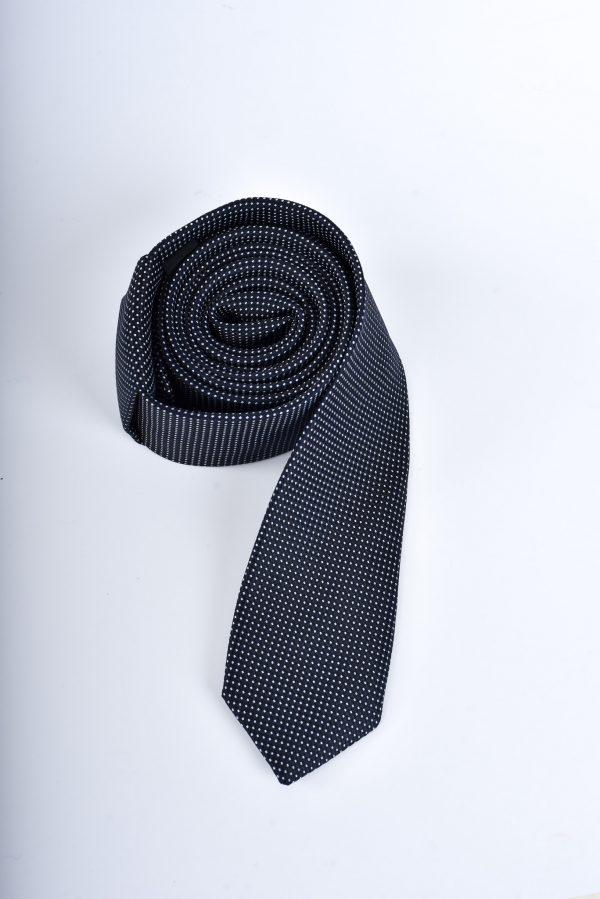 Slips - svart med vita prickar