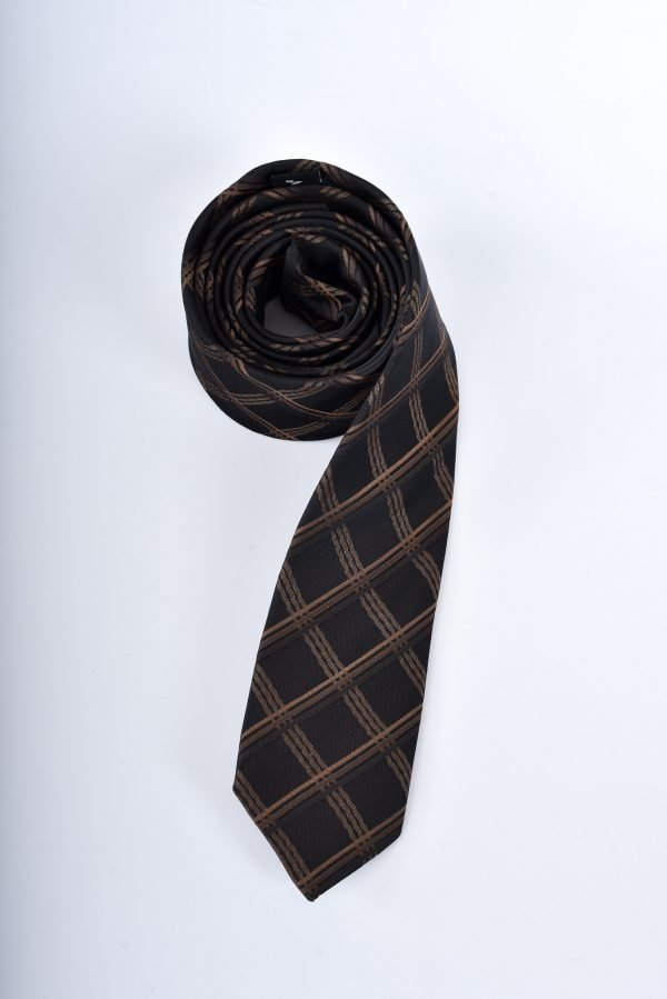 Slips - svart och brunrandig